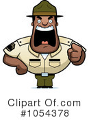 Royalty-Free (RF) Drill Sargent Clipart Illustration #1054378