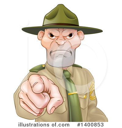 Drill Sergeant Clipart #1400853 by AtStockIllustration