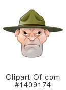 Drill Sergeant Clipart #1409174 by AtStockIllustration