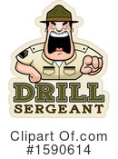 Drill Sergeant Clipart #1590614 by Cory Thoman