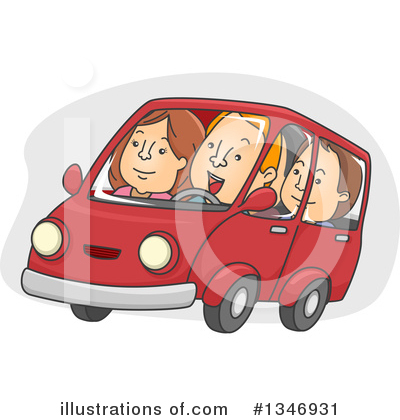 Car Pooling Clipart #1346931 by BNP Design Studio