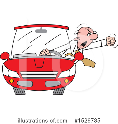 Driving Clipart #1529735 by Johnny Sajem