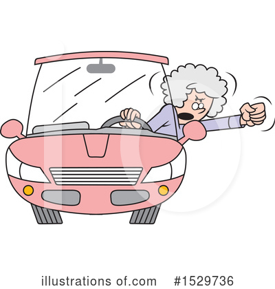 Driving Clipart #1529736 by Johnny Sajem