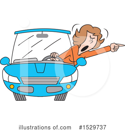 Driving Clipart #1529737 by Johnny Sajem