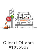 Royalty-Free (RF) Driving Clipart Illustration #1055397