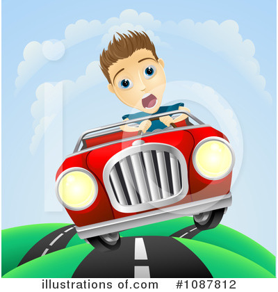 Driving Clipart #1087812 by AtStockIllustration