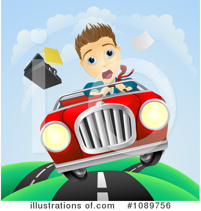 Driving Clipart #1089756 by AtStockIllustration