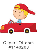 Royalty-Free (RF) Driving Clipart Illustration #1140200