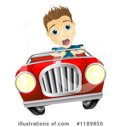 Driving Clipart #1189850 by AtStockIllustration