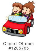 Royalty-Free (RF) Driving Clipart Illustration #1205765