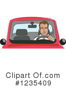 Royalty-Free (RF) Driving Clipart Illustration #1235409