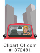 Royalty-Free (RF) Driving Clipart Illustration #1372481