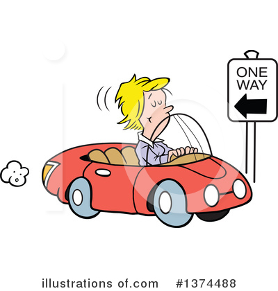 Driving Clipart #1374488 by Johnny Sajem