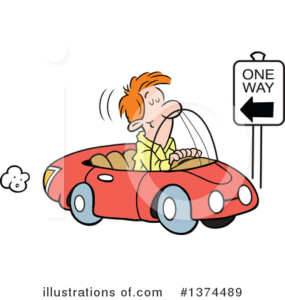 Driving Clipart #1374489 by Johnny Sajem