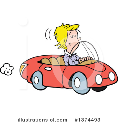 Driving Clipart #1374493 by Johnny Sajem