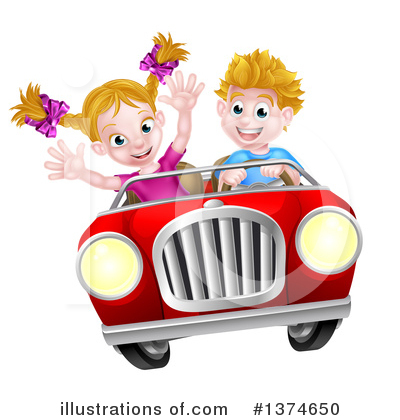 Driving Clipart #1374650 by AtStockIllustration