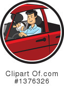 Royalty-Free (RF) Driving Clipart Illustration #1376326