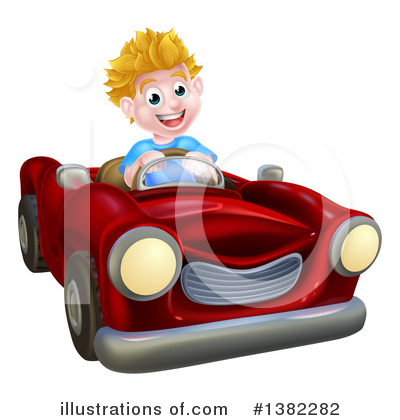 Driving Clipart #1382282 by AtStockIllustration