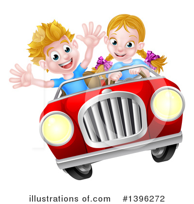 Driving Clipart #1396272 by AtStockIllustration