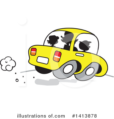 Driving Clipart #1413878 by Johnny Sajem