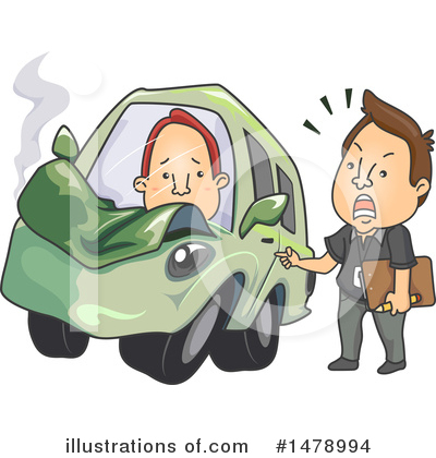 Car Wreck Clipart #1478994 by BNP Design Studio
