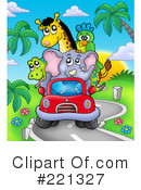 Royalty-Free (RF) Driving Clipart Illustration #221327