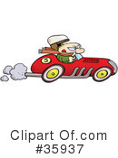 Royalty-Free (RF) Driving Clipart Illustration #35937