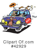 Royalty-Free (RF) driving Clipart Illustration #42929