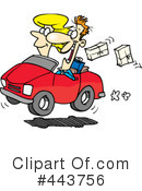 Royalty-Free (RF) Driving Clipart Illustration #443756