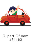 Royalty-Free (RF) Driving Clipart Illustration #74162