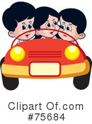 Royalty-Free (RF) Driving Clipart Illustration #75684