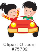 Royalty-Free (RF) Driving Clipart Illustration #75702