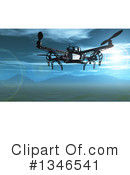 Drone Clipart #1346541 by KJ Pargeter
