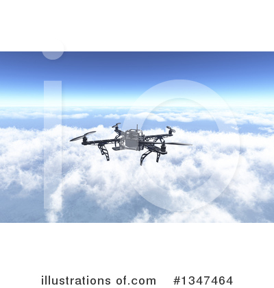 Drone Clipart #1347464 by KJ Pargeter