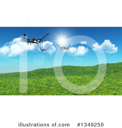 Drone Clipart #1349250 by KJ Pargeter