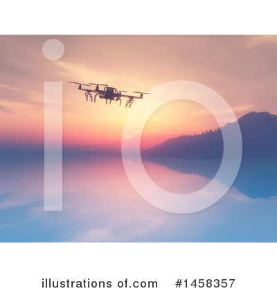 Drone Clipart #1458357 by KJ Pargeter