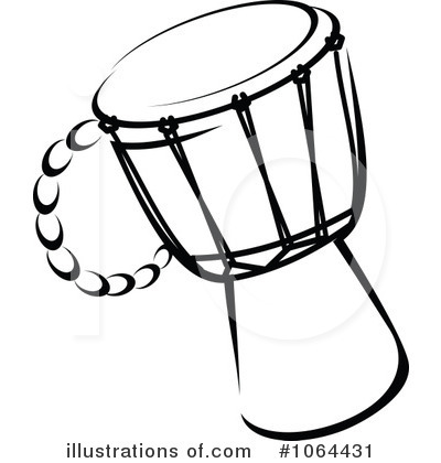 Royalty Free RF Drum Clipart Illustration By Vector Tradition SM