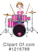Drummer Clipart #1216788 by Pushkin