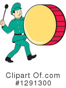 Royalty-Free (RF) Drummer Clipart Illustration #1291300