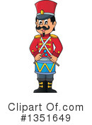 Royalty-Free (RF) Drummer Clipart Illustration #1351649