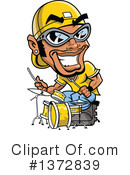Royalty-Free (RF) Drummer Clipart Illustration #1372839
