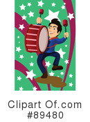 Royalty-Free (RF) Drummer Clipart Illustration #89480