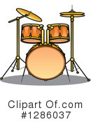 Royalty-Free (RF) Drums Clipart Illustration #1286037