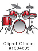 Drums Clipart #1304635 by Vector Tradition SM