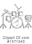 Drums Clipart #1371343 by Vector Tradition SM