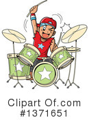 Drums Clipart #1371651 by Clip Art Mascots