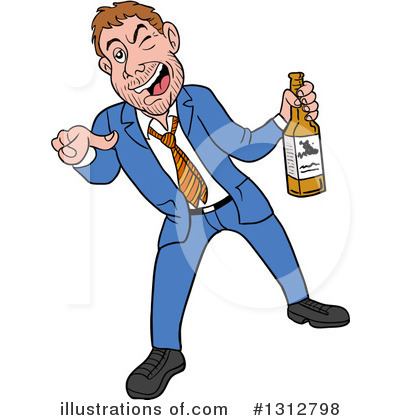 Drunk Clipart #1312798 by LaffToon