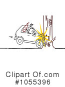 Royalty-Free (RF) Drunk Driver Clipart Illustration #1055396