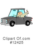 Royalty-Free (RF) drunk driving Clipart Illustration #12425