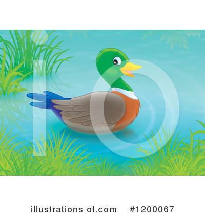 Pond Clipart #1200067 by Alex Bannykh